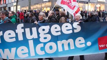 Flüchtlinge willkomen
