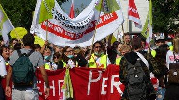 Warnstreik und Demo in Augsburg 25.9.2017