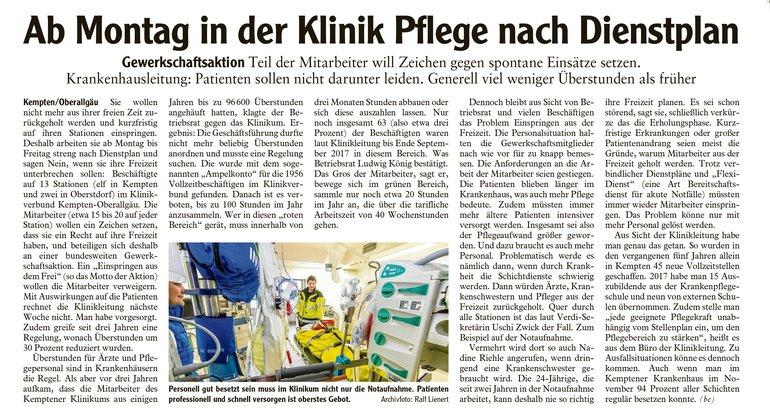 Allgäuer Zeitung vom 9.12.2017