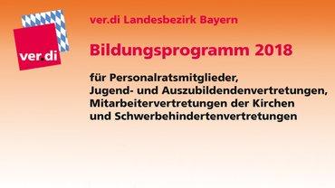 Bildungsprogramm 2018 für Personalratsmitglieder