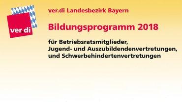 Bildungsprogramm 2018 für Betriebsratsmitglieder