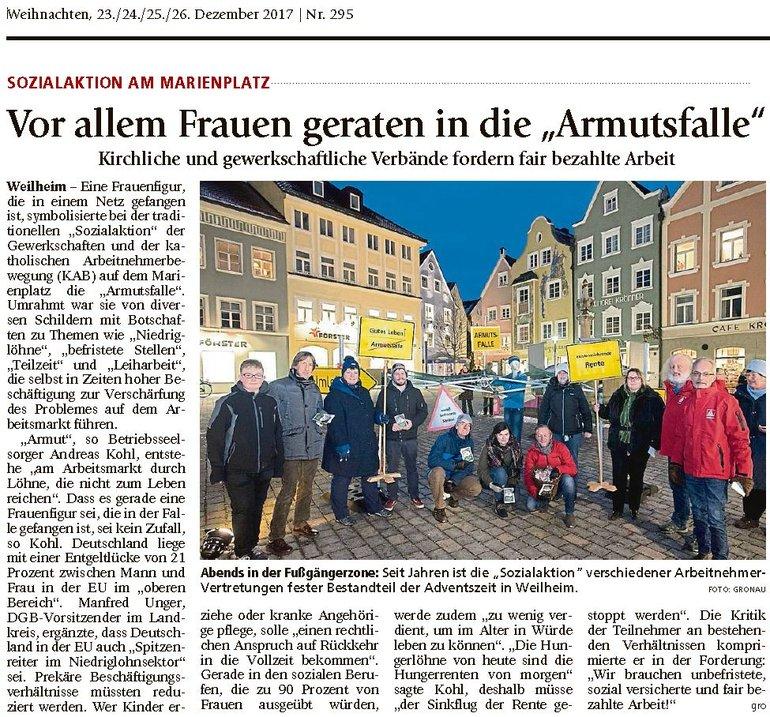 Weilheimer Tagblatt vom 23.12.2017