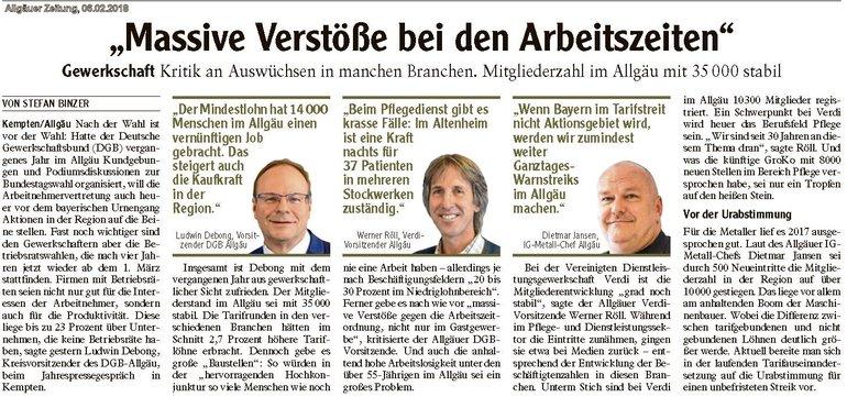 Allgäuer Zeitung, 06.02.2018
