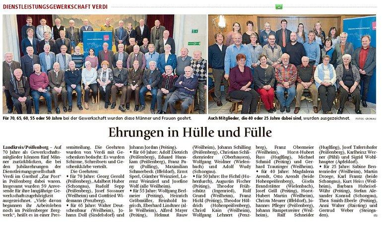 Weilheimer Tagblatt, 12.02.2018