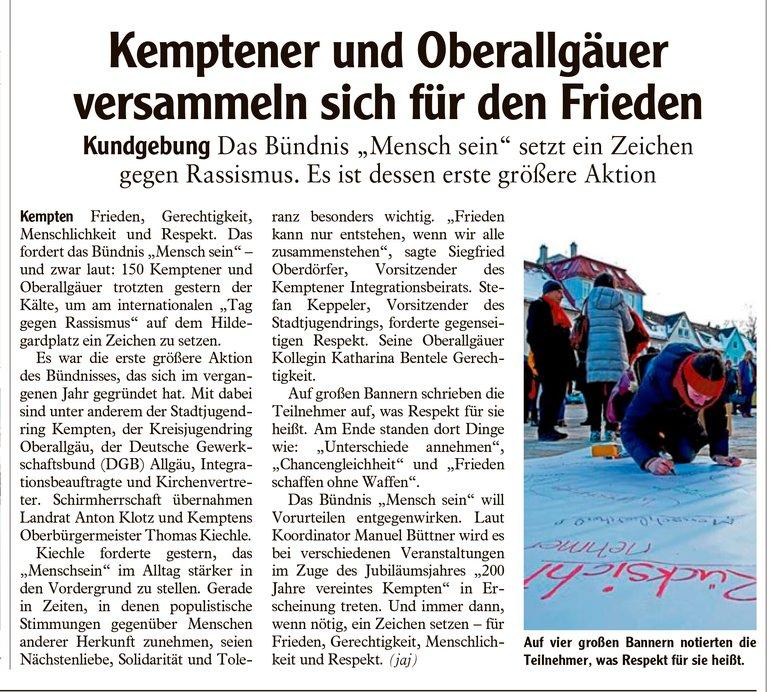 Allgäuer Zeitung vom 22.03.2018