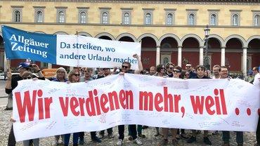 Protestkundgebung vor der Oper in München 24.04.2018