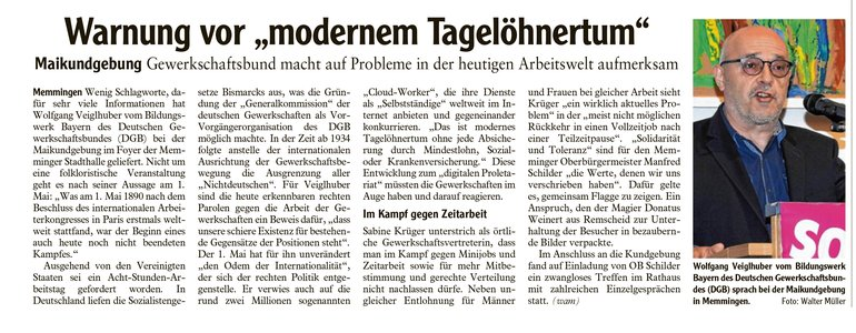 Memminger Zeitung vom 02.05.2018