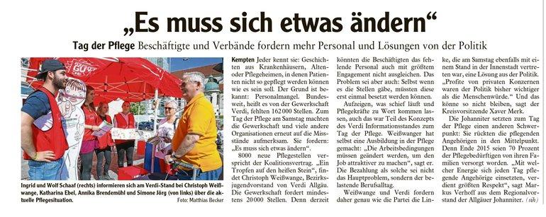 Allgäuer Zeitung vom 15.05.2018