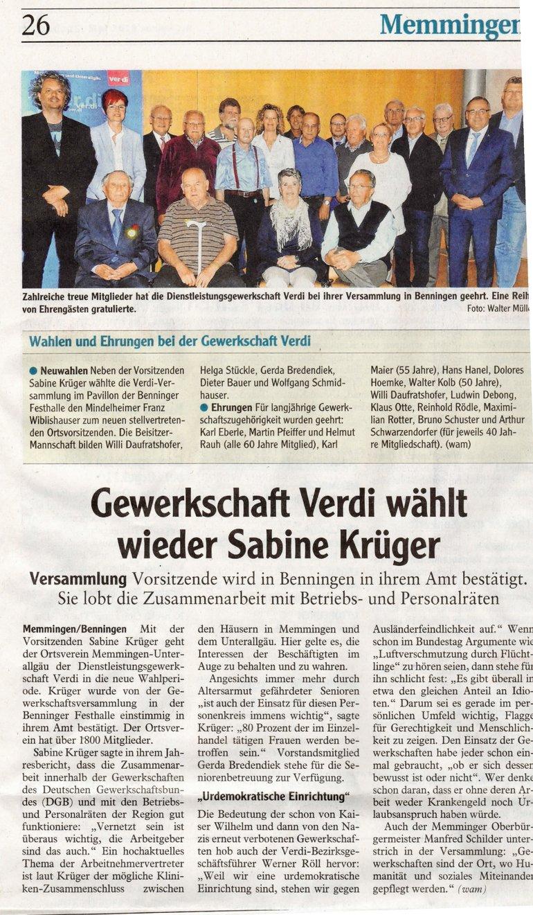 Memminger Zeitung vom 17.05.2018