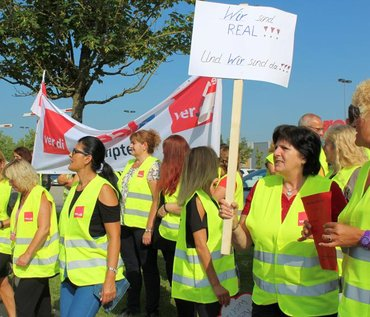 Streik bei real in Memmingen