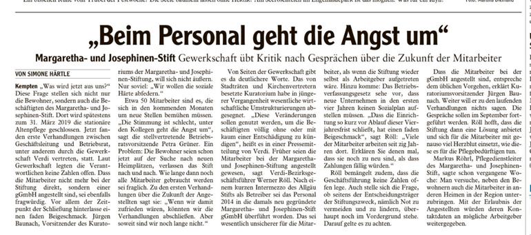 Allgäuer Zeitung vom 18.08.2018