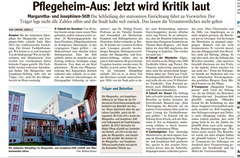 Allgäuer Zeitung vom 24.08.2018