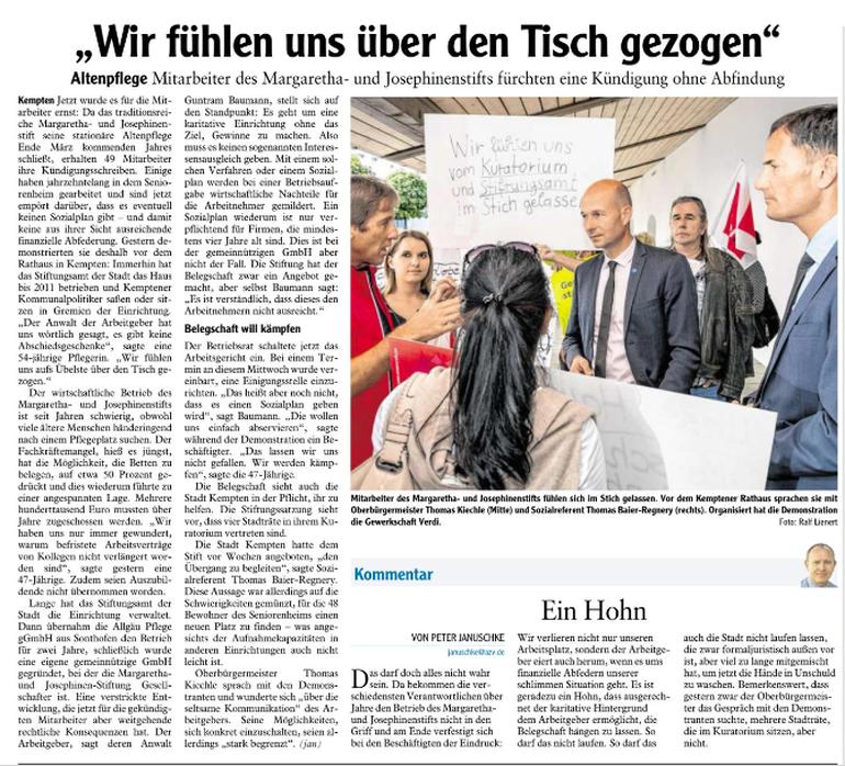 Allgäuer Zeitung vom 28.09.2018