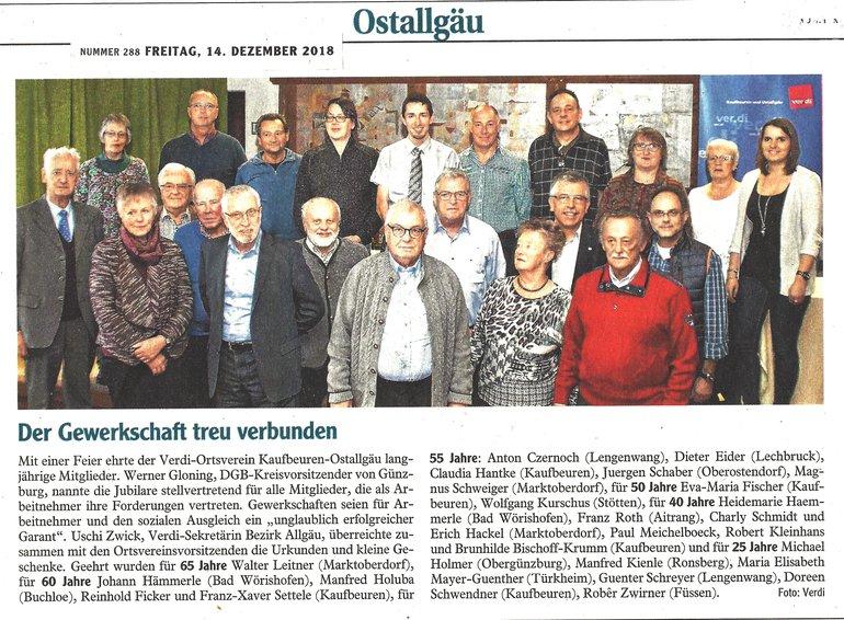 Algäuer Zeitung vom 14.12.2018