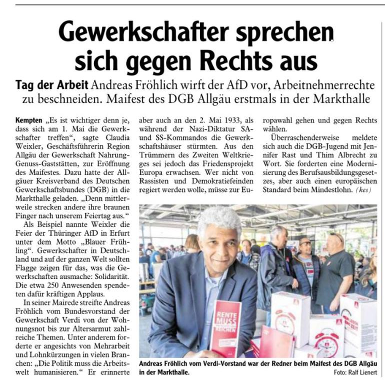 Allgäuer Zeitung vom 02.05.2019