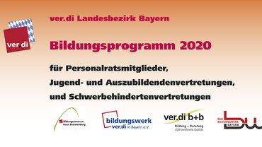 Bildungsprogramm 2020 für Personalratsmitglieder
